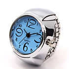1 Pcs Creative Fashion Steel Round Elastic Quartz Finger Ring Watch Lady Girl