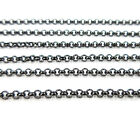 Black Stainless Steel Necklace Plated Link Chain Lobster Claw Clasp Rolo Chains