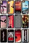 For iPhone 5SE 6 S 7 8 X PLUS CALIFORNIA CASE HARD RUBBER SILICONE CASE COVER