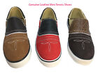 Mens Genuine Leather Casual Tennis Shoes 100% Authentic Mexican Leather- New