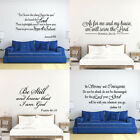 Внешний вид - Bible Verse Wall Decals Christian Quote Vinyl Wall Art Stickers Scripture Decor