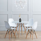 Rectangle Round Dining Table And 4 Chairs Set Eiffel Wood Style White Black Oak <br/> Easter Gift❤Office Meeting Coffee Table+2/4/6 Chairs