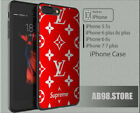 New !! Special Edition Louis-Vuitton71US X RedSupreme Case iPhone SE 6 7 8 X !!!