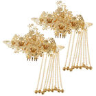 2pc Bridal Headdress Wedding jewelry Gold Chinese Traditional Hair Accessory