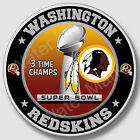 Washington Redskins Super Bowl Championship Sticker, NFL Decal 9 Differen Sizes