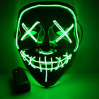 3 Modes LED Glow Mask EL Wire Light Up The Purge Movie Halloween Costume Cosplay