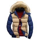 Mens Boys Winter Warm Casual Jackets Padded Coat Outerwear Overcoat M-4XL