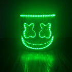 LED Marshmello DJ Mask Helmet Cosplay Costume Halloween Party Props Bar DJ toy