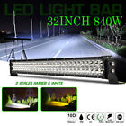 32 Inch 849W LED White Light Bar Work Lamp Spot Flood Combo Offroad 4WD Truck US