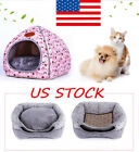 Pet Dog Cat Warm House Kennel Cave Sleeping Bed Tent Soft Cushion Foldable Pad