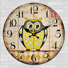 Cartoon Owl Birds Wall Clock Home Nursery Kids Room Decor Kitchen Bar