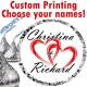 108 Custom Names Wedding Party Favor Stickers Hershey Kiss Kisses Labels Hearts