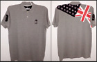 Fiji Rugby Official Licensed Product - Grey Flag Polo T-shirt XL