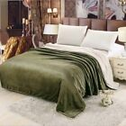 1.5*2M Home Blankets Solid Color Tide Warm Fluffy Sofa Blanket Soft Coral Cozy