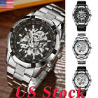 Fashion Skeleton Mechanical Watches Men Watch Automatic Self-Wind Watches New US image