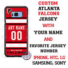 NFL ATLANTA FALCONS PHONE CASE COVER WITH NAME &No. FOR iPHONE SAMSUNG LG HTCetc $26.98 USD on eBay