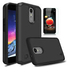 For LG Phoenix 4/Rebel 4/Fortune 2/Zone 4 Armor Case Cover With Screen Protector