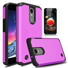 For LG Phoenix 4/Rebel 3/Fortune 2/Zone 4 Armor Case Cover With Screen Protector