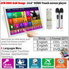 4TB HDD 84K English Songs 15.6'' Touch Screen Karaoke Machine,Update To 2018
