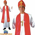 Holy Cardinal Catholic Bishop Priest Vicar Religious Mens Fancy Dress Costume