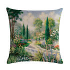 Art Oil Painting Pillow Case Countryside Scenery Home Decorative Cushion Cover
