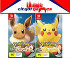 Pokemon Lets Go Eevee! & Pokemon Let's Go Pikachu! Bundle Switch In Stock