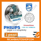 2 LAMPADINE H4 X-TREME VISION PHILIPS LAND ROVER 900 2.5 4X4 KW:62 1985>1990 123