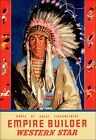 Blackfoot Native 1954 Great Northern Railroad Vintage Poster Print Retro Train