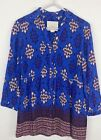 Anthroplogie Maeve Button Up Blouse Top Blue Printed Multi Womens Size 4