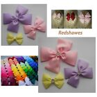 Double Bow Hair Clip-3, 4 or 5 inches- with or without sparkly Gem- 50 colours +