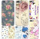 New Arrival Fashion Romantic flower Colorfull Soft TPU Black Case for iphone