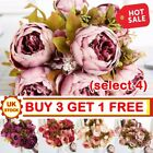 13 Heads Silk Peony Artificial Flowers Peony Wedding Bouquet Home Party Decor Ea