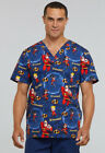 Tooniforms by Cherokee Unisex V-Neck The Incredibles Print Scrub Top TF663-ICAM