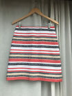 Ann Taylor multicolor striped textured straight skirt Size 2