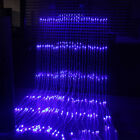 (US) Plug 3mX3m Waterfall Curtain String Lights 320LED Icicle Xmas Christmas