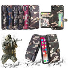 Camo Camouflage PU Leather shockproof Card Slot Case Cover for iPhone XR XS Max