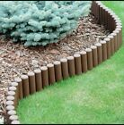 Garden Fence Lawn Edging Boarder Edge Palisade Fencing  Patio Brown Terracotta