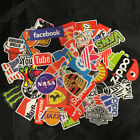 50pcs Brand Logo Vinyl Stickers Decals Snowboard Luggage Car Laptop Bike Phone
