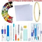 Внешний вид - Magic DIY Embroidery Pen Knitting Sewing Tool Punch Needle + 50 Threads Kit Set