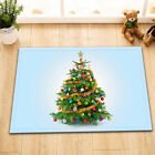 LB Bath Shower Curtain Liner Waterproof Fabric Chriatmas Tree On Blue Background