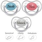 PERSONALISED DUMMY *CHERRY, ORTHODONITC, SYMMETRICAL TEAT* PACIFIER, SOOTHER,