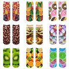 Fashion Sweet Fruit Donut Image 3D Print Women Cotton Blend
