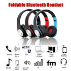 Foldable Wireless Bluetooth Headset Stereo Headband Earphone MP3 Player Lot WE
