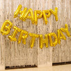 Внешний вид - 16 Inch Happy Birthday Foil Letter Balloon Banner Party Decorations 13 pcs