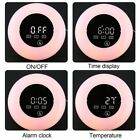 TS-S23 RGB LED Mirror Clock with Touch Screen Alarm & Snooze Home Office Use W@