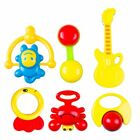 Baby Toy Infant 6PCS Set Bebes Handbells Toy Bed Bells Kids Animal Toys Rattles