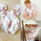 Baby Romper Cute Floral Newborn Infant Baby Girls Summer V-Neck Ruffles Jumpsuit