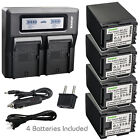 Kastar Battery Dual LCD Fast Charger for Canon BP-827 CG-800 & Canon HF G20