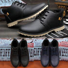 Winter Casual Mens High Top Ankle Boots Leather Shoes Sports Gym Sneakers New