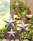 Set of 5 Metal Star Garden Stakes Outdoor Lawn Art Rustic Country in 2 Colors
